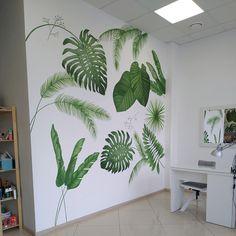 One wall paint Playroom Mural, Mural Wall Art, Mural Painting, Bedroom Wall, Bedroom Decor, Wall Decor, My Room, Girl Room, Leaves Wallpaper Iphone