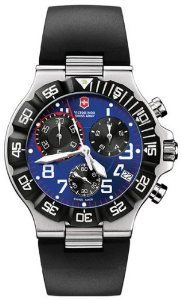 Men's Stainless Steel Victorinox Summit XLT Chronograph Blue Dial Black Rubber Strap Victorinox Swiss Army. $340.00. Victorinox Swiss Army Summit Collection. Case Diameter - 41 MM