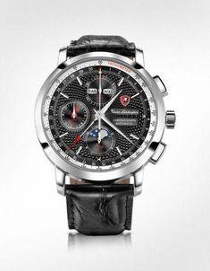 6bcf6ad1954b Tonino Lamborghini Regulateur Black Chronograph Watch  ideasderegalosparaEL
