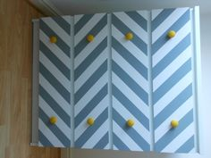 My Ikea hack! A chest of malm drawers, grey paint and masking tape.  -- lilys room?