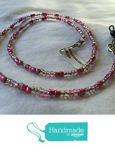 Pink Beaded Eyeglass Chain or Lanyard from Southern Women Crafts https://www.amazon.com/dp/B01MXO9PV1/ref=hnd_sw_r_pi_dp_5p5oyb8WKXTZN #handmadeatamazon