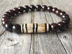 gemstone men bracelet stretch stacking bracelet door KennlyDesign
