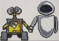 ... otherwise entitled 'your wish is my command', if you ask for Wall-E in hama beads you will have it!  Adapted from this cross stitch pattern: www.myphotostitch.com/media/2009/04/02/Cross-Stitch-Patte...