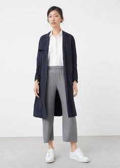 Пестрые струящиеся брюки | MANGO МАНГО