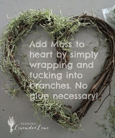 Easy Heart Wreath Tutorial