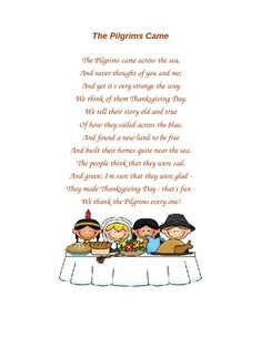 The Pilgrims Came poem