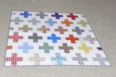 Cross quilt for baby!