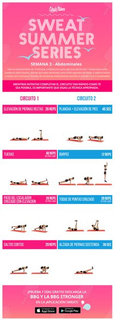 SWEAT SUMMER SERIES SEMANA 3 - ABDOMINALES – Kayla Itsines