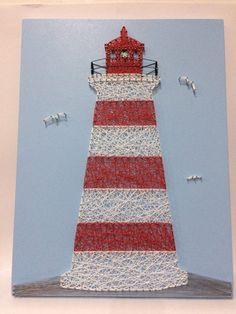 String art lighthouse