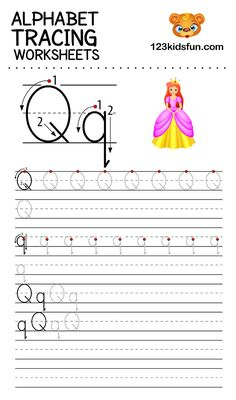Alphabet Tracing Worksheets A-Z free Printable for Preschooler and Kindergartener. This Alphabet Tracing is a great activity for kids to practice letter recognition and handwriting skills. Printable letter Q tracing worksheet. Free Printable Alphabet Worksheets, Alphabet Writing Worksheets, Alphabet Writing Practice, Alphabet Tracing, Phonics Worksheets, Tracing Worksheets, Handwriting Practice, Fun Apps, Kids Fun