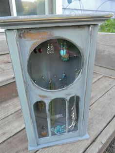 old clock box up-cycled into jewelry box