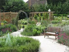 A sensory garden with a variety of fragrances would be beneficial in a hospice garden since smell and sound are some of the last senses people lose, but not appropriate for a chemotherapy garden, since patients can be sensitive to smells (Erickson, 2012).