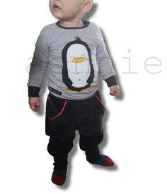 Pinguin auf Ottobre-Shirt + klimperklein-Checkerhose - by aennie