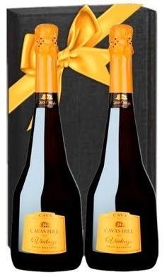 Elegante estuche con 2 botellas de cava Hill Vintage, un excelente obsequio para estas fiestas