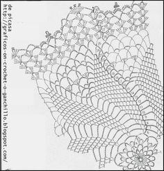 PATRONES - CROCHET - GANCHILLO - GRAFICOS: CARPETITA AL CROCHET CON SU GRAFICO