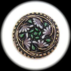 PAiR Czech Glass Buttons 27mm  1 1/16 Lavender by brizelsupplies