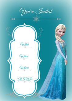 Free printable Frozen Invitation