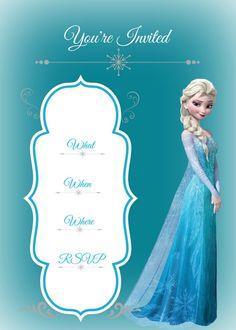 Free printable Frozen Invitation