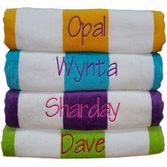 personalised beach towel - large