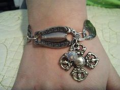Handcrafted Spoon Ends Silverware Bracelet by Ruggedcupboardjewels, $32.00
