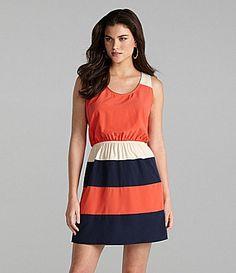 Gianni Bini Julia Bold-Stripe Dress | Dillards.com