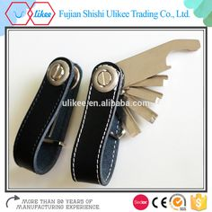wholesale custom compact smart leather key holder organizer leather chain smart with usb