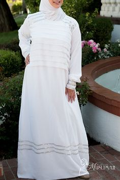 Modest Wedding Dress - Full Length, Special Occasion - $99.00 : Plus Size Muslimah :: Plus Size Islamic Dress for Women, plus size Islamic clothing, plus size abaya, hijab hats, Islamic Art, Plus size Islamic dress for women. Get trendy Islamic clothing in plus sizes, plus size abayas, plus size jilbabs, and hijab hats.
