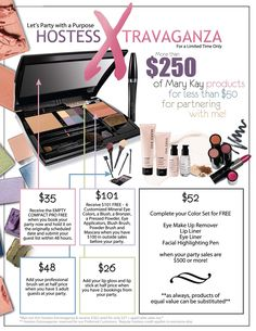 Mary Kay Hostess Flyer | FREE PRODUCTS ANYTIME) EXCLUSIVE Mary Kay Specials!!! Host a Party ...