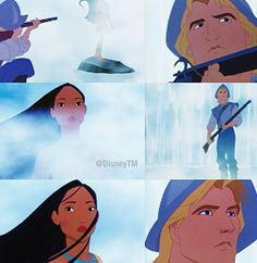 Princess Pocahontas, Disney Pocahontas, Disney Couples, Disney Princess, Disney Movies, Disney Pixar, Disney Characters, Pocahontas And John Smith, Walt Disney Pictures