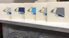 cartes découpée main , concarneau Concept, Blanket, Sailors, Greeting Card