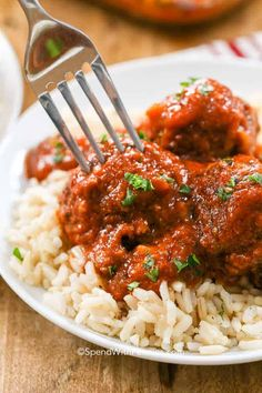 Porcupine Meatballs are a fun twist on your traditional meatball recipe. These tasty morsels are made with ground beef, rice, onion and seasonings then baked in a rich tomato sauce. Beef Dishes, Food Dishes, Main Dishes, Casserole Recipes, Meat Recipes, Cooking Recipes, Meatloaf Recipes, Meatball Recipes, Paleo Recipes