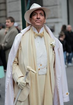 Resplendent attire. Photo captured by Advanced Style at this year's Easter Parade in NYC. #menswear #dapper #fashion