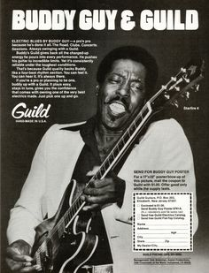 Guild advertisement (1979). Buddy Guy and Guild