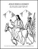 palm sunday donkey coloring pages - photo#26