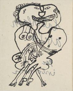 JEAN DUBUFFET LA BONFAM ABEBER PAR INBO NOM. [PARIS, J. DUBUFFET], 1950.