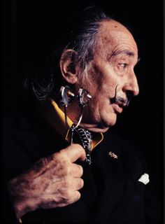 "tornandfrayed: ""One ought to be able to hold in one's head simultaneously the two facts that Dalí is a good draughtsman and a disgusting human being"" - George Orwell Salvador Dalí by Ken Spencer. Salvador Dali Photography, Salvador Dali Paintings, Photographic Film, Rare Photos, Contemporary Artists, George Orwell, Portrait, People, Sai Baba"