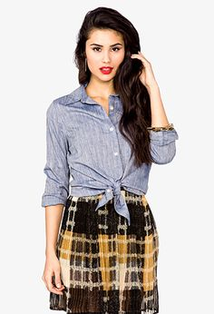 Chambray Shirt | FOREVER 21 - 2022690788