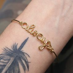 Personalized gold bangle bracelet, wire name bracelet, friendship, christmas gift,
