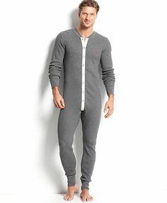 Ralph Lauren Men's Loungewear, Thermal Union Suit - T-Shirts - Men - Macy's Mode Masculine, Mens Coveralls, Jogging, Mens Onesie, Union Suit, Long Underwear, Lingerie For Men, Gentleman Style, Lounge Wear