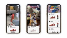 """Wanna Kicks, a new AR app from Wannaby, lets you virtually """"try on"""" your next pair of kicks – TechCrunch Best Ar Apps, Snap Inc, Augmented Virtual Reality, Scanner App, Retail Websites, Ar Technology, Try On, App Design, Kicks"""