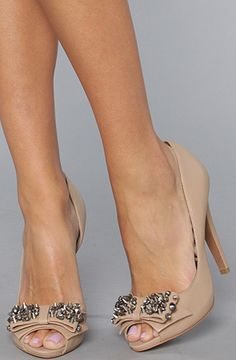 Nude Peep Toes with studs
