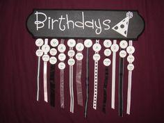 birthday calendar!