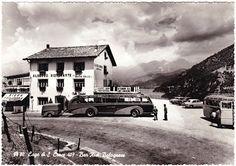Old postcard: Albergo Ristorante, near Lago di Santa Croce (Italy)