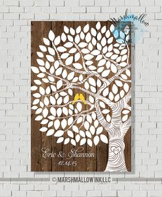 Hey, I found this really awesome Etsy listing at https://www.etsy.com/listing/219243155/rustic-tree-guest-book-wedding-guest