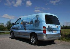 My van, airbrush, watercolor pencils, acrylic paint, 2015