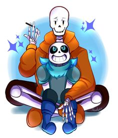 Underswap skelebros by Abakura on DeviantArt