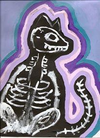 Cat Aura - Acrylic Paint by Lauren Tornetta