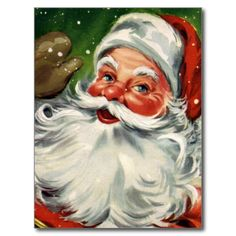 Shop Vintage Santa Face 1 Poster created by Gatterwe. Christmas Past, Father Christmas, Christmas Crafts, Christmas Posters, Christmas Mantles, Christmas Ornaments, Santa Paintings, Christmas Paintings, Vintage Santa Claus