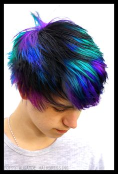 Dye my hair, boys dyed hair, men's hair, boys colored hair, kids Kids Hair Color, Boys Colored Hair, Mens Hair Colour, Cool Hair Color, Best Hair Dye, Dye My Hair, Bright Hair Colors, Hair Dye Colors, Boys Dyed Hair
