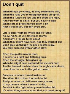 Favorite Poem and one I live by in Med School